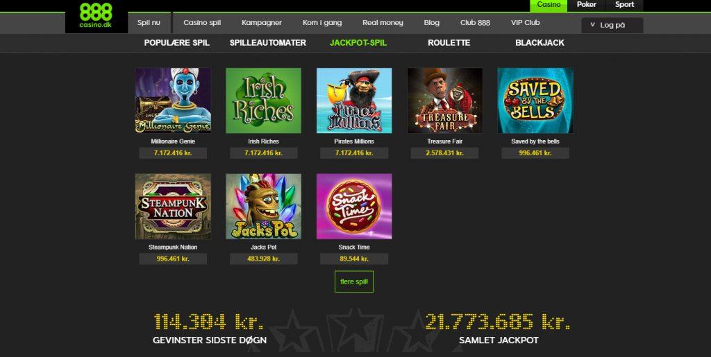 888 casino jackpot spil