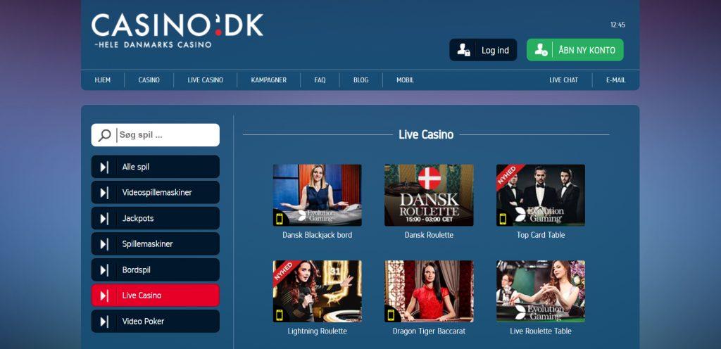 casino.dk live casino