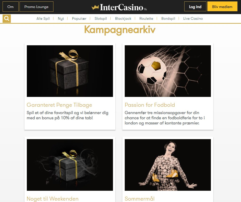 intercasino kampagner