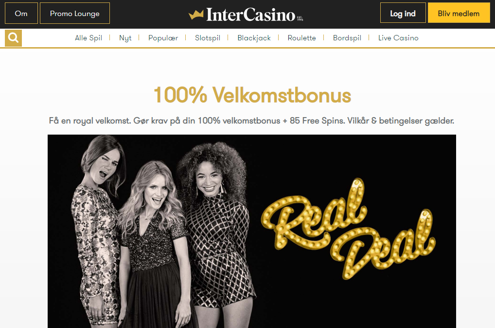 intercasino velkomstbonus