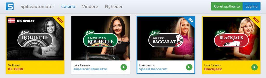 spilnu.dk live dealer casino