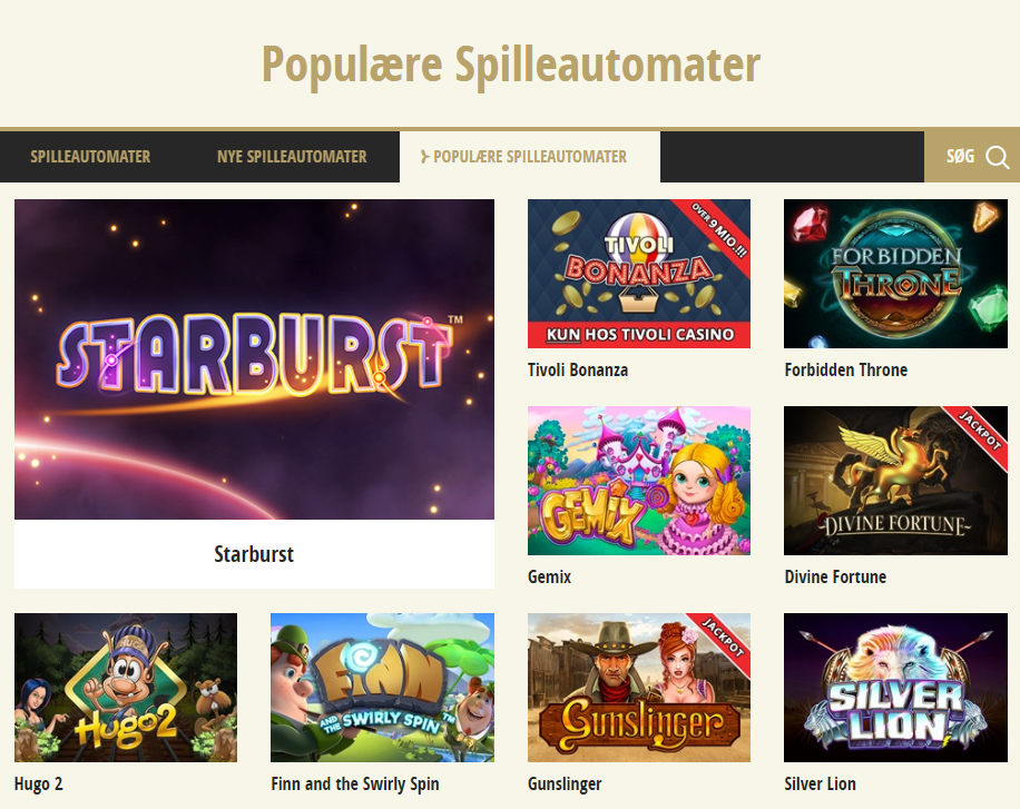 tivoli casino spillemaskiner