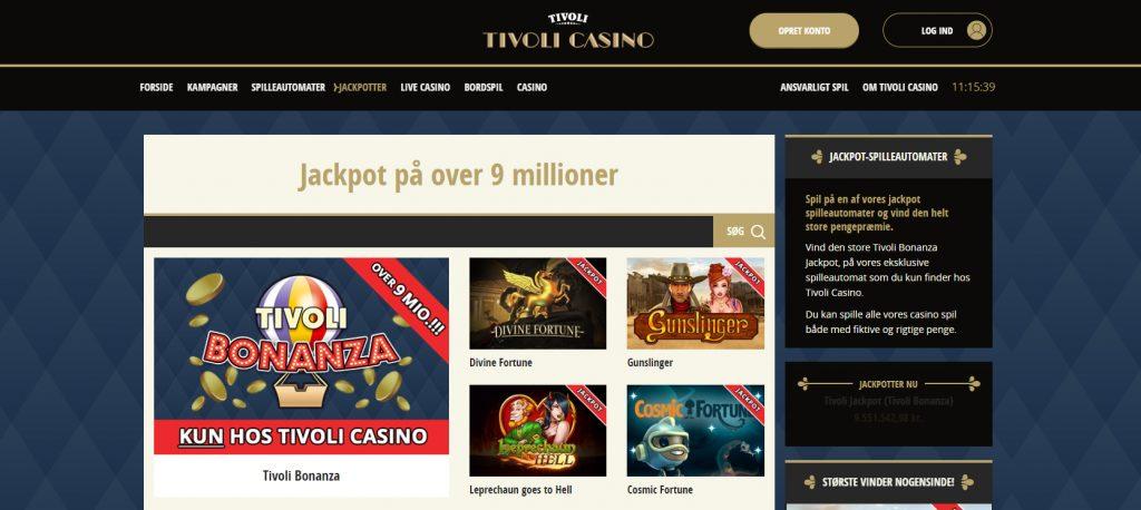 tivoli casino jackpot