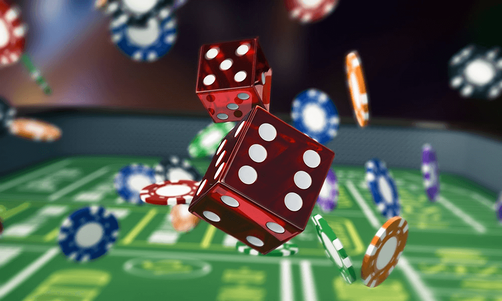 online casino terninger og casino chips